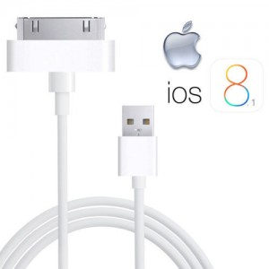Cable Datos 100% Genuino Apple iPhone 4 4S 3G 3GS iPod & iPad 2 & 1 Cargador Usb